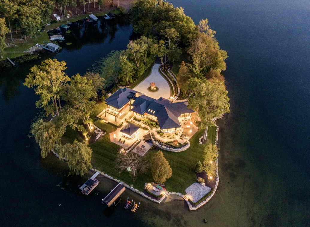 Modern Residential Architect Designs Luxurious Island Home in Oakland County